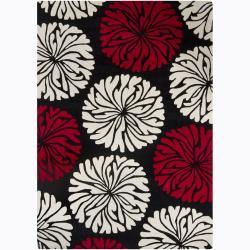 Hand-Tufted Mandara Rectangular Wool Rug (5' x 7')