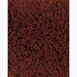Handwoven Red/Brown Viscose Mandara Shag Rug (2'6 x 7'6)