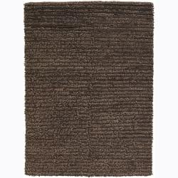 Hand-woven Mandara New Zealand Wool Shag Rug (9' x 13')