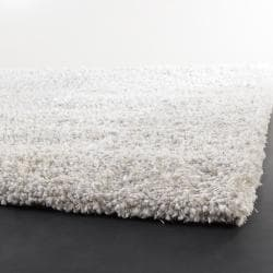 Handwoven Mandara White Contemporary Shag Rug (7' 9
