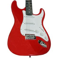 SVP dr. Tech MSJ-R1 Distressed Tele Design Red/ White Electric Guitar