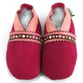 Red Suede Soft Sole Leather Baby Shoes