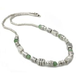 Beverly Hills Charm Silver Amazonite Necklace