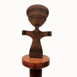 Hand-Crafted Fante Paper Towel Holder (Ghana)
