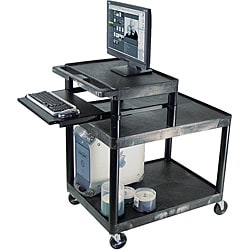 Luxor Black Open Mobile Workstation