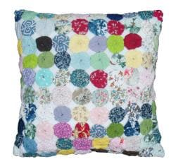 Cottage Home 'Yo Yo' 16-inch Square Decorative Pillow