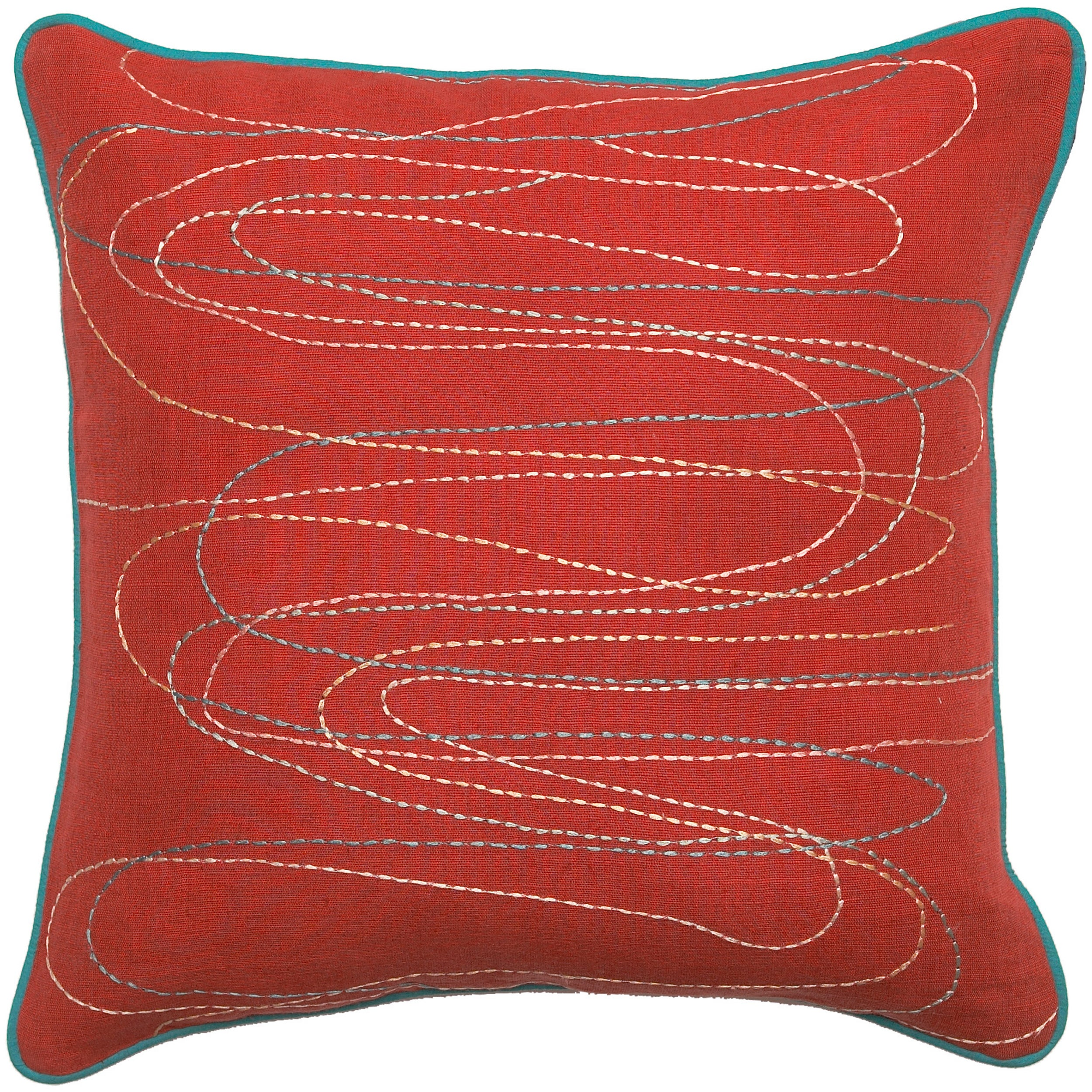 Down Filled 'Rutland' 18-inch Square Decorative Pillow