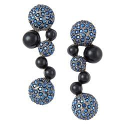 Michelle Monroe Tungsten Blue Crystal Earrings