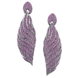 Michelle Monroe Tungsten Pink Crystal Earrings Made with SWAROVSKI Elements
