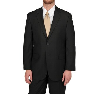 Adolfo Men's Black Stripe 2-button Suit Separate Coat