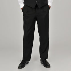 Adolfo Men's Solid Black Suit Separate Pants