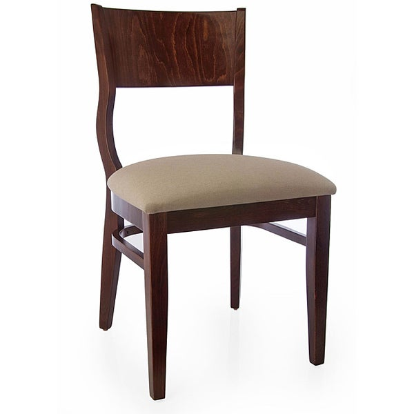Walnut Wood Roma Side Chairs (Set of 2)