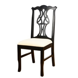 Honey Oak Wood Chippendale Side Chair