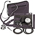 Veridian Adult Black Adjustable Aneroid Sphygmomanometer with Sprague Stethoscope Kit