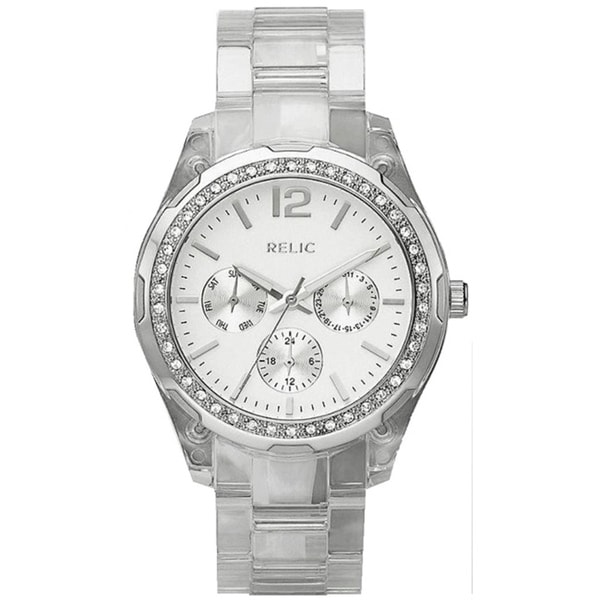Relic Women's 'Starla' Multifunction Clear Resin Watch