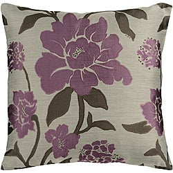 Jacquard 22x22-inch Floral Down Pillow