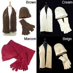 LA77 Women's 3-piece Scarf Set