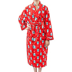 Leisureland Women's Flannel Panda Print Robe
