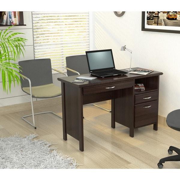 Inval Softform Espresso Computer Desk 14020851
