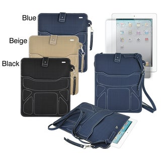Premium Neoprene Shoulder Purse with Screen Protector for Apple iPad 2 or iPad 3