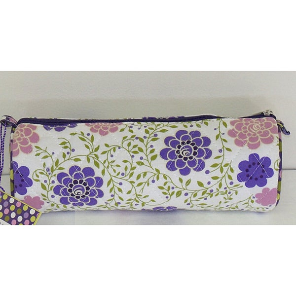Laura Ashley Floral Cosmetic Roll/ Jewelry Case