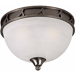 Triarch International Luxor 3-light Antique Brushed Steel Flush Mount