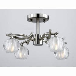 Triarch International Cosmo 4-light Satin Nickel Semi-Flush Mount