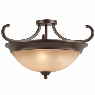 Triarch International LaCosta 3-light English Bronze Semi-Flush Mount