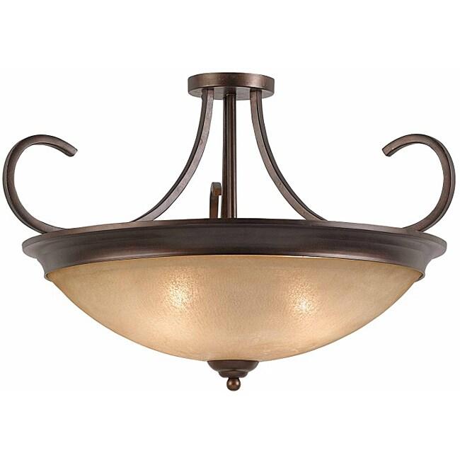 Triarch International LaCosta 4-light English Bronze Semi-Flush Mount