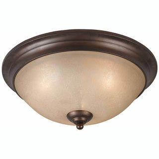 Triarch International LaCosta 3-light English Bronze Flush Mount