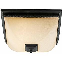 Granada 2-light Blacksmith Bronze Flush Moment