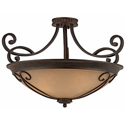 Triarch International Corsica 4-light English Bronze Semi-Flush Mount