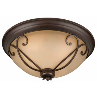 Triarch International Corsica 3-light English Bronze Flush Mount
