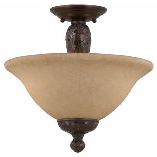 Triarch International Jewelry 2-light Harvest Bronze Semi-Flush Mount