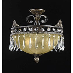 Triarch International LeGrandeur 3-light English Bronze Semi-Flush Mount