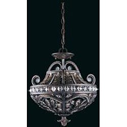 Triarch International Grand 3-light English Bronze Semi-Flush Mount