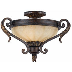 Triarch International Venus 2-light English Bronze Semi-Flush Mount