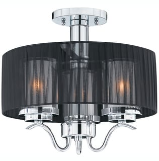 Triarch International Cylindique 2-light Chrome Semi-Flush Mount