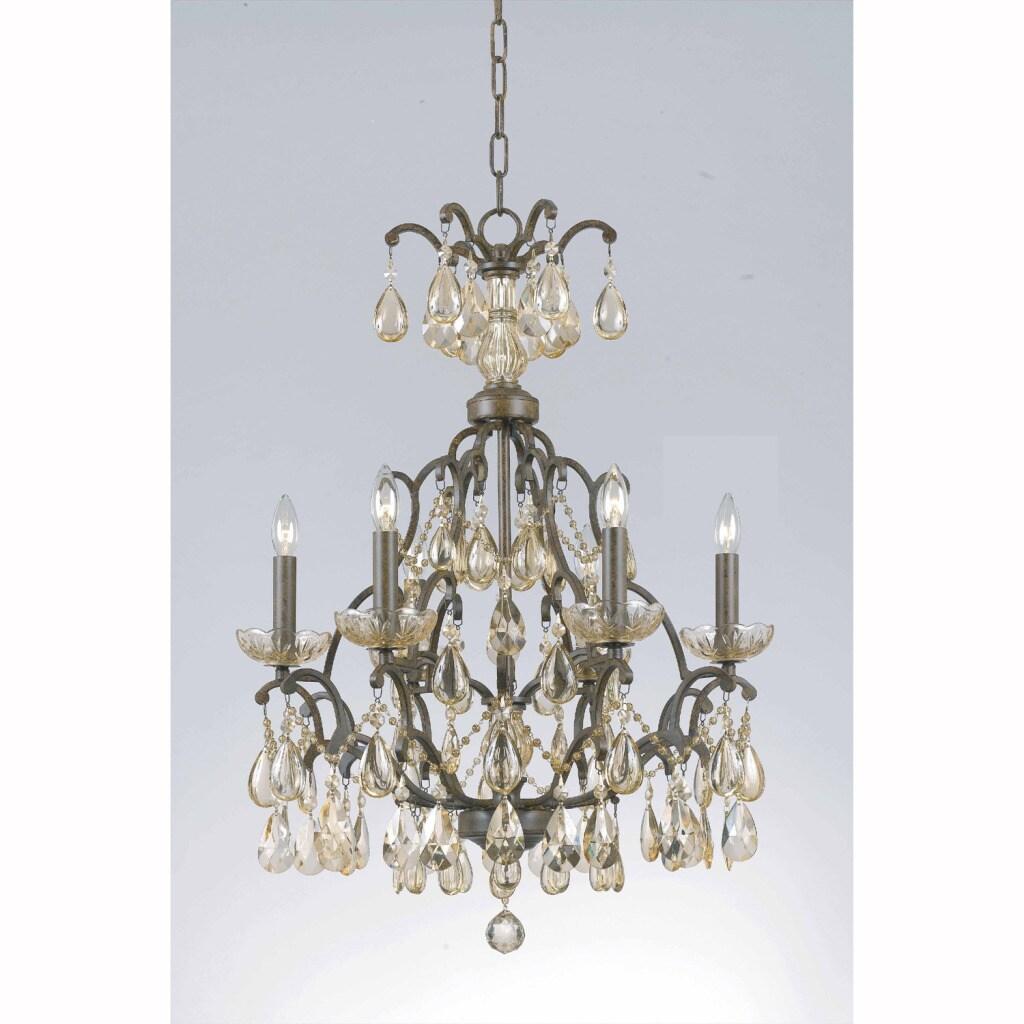 Triarch International Versailles 6-light Antique Bronze Chandelier