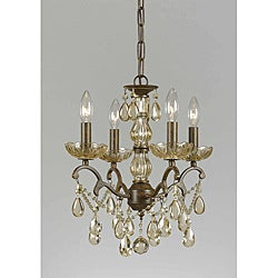 Triarch International Versailles 4-light Antique Bronze Chandelier