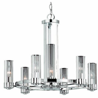 Triarch International Glacier 7-Light Chrome Pendant Chandelier