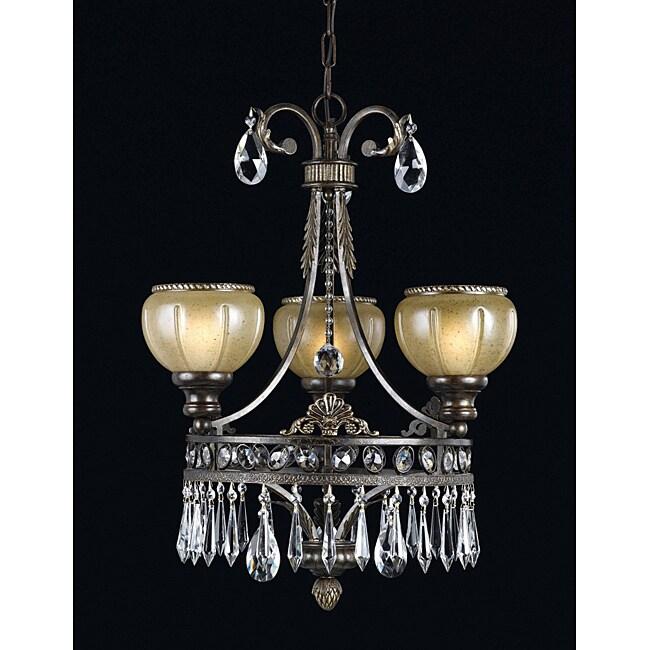 Triarch International LeGrandeur 3-light English Bronze Chandlelier