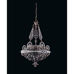 Triarch International Grand 3-light English Bronze Pendant Chandelier