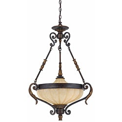 Triarch International Venus 3-light English Bronze Pendant Chandelier