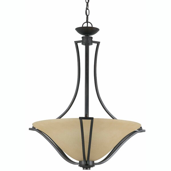 Triarch International Greco 3-light English Bronze Semi-Flush