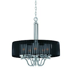 Triarch International Cylindique 5-light Chrome Pendant Chandelier