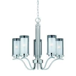 Triarch International Cylindique 5-light Chrome Chandelier