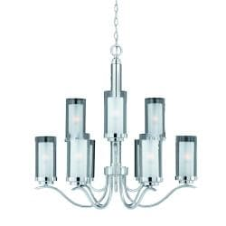 Triarch International Cylindique 9-light Chrome Chandelier