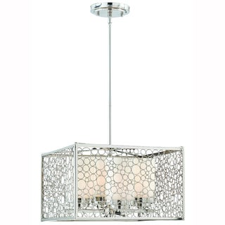 Triarch International Contempo 4-light Chrome Pendant Chandelier