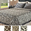 Animal Print 300-thread-count Cotton Blanket with Natural Down Fill